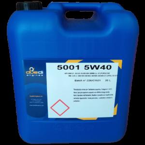 Olio Lubrificante 5001 5W40 | DUEDI ENGINES | Duedi Store
