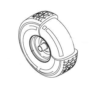 Cerchio posteriore + Pneumatico Rider Serie ASSO | EUROSYSTEMS | Duedi Store