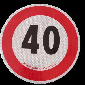 Disco adesivo limite di velocità 40 Km/h | Accessori | Duedistore